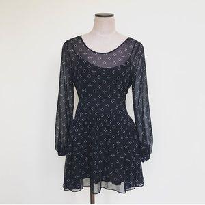 Free People chiffon Black Dress
